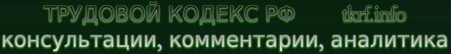 Трудовой Кодекс РФ с комментариями